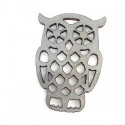 Wooden Pendant Owl 40x50mm