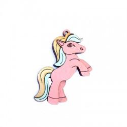 Pendentif pony en Bois 52x33mm