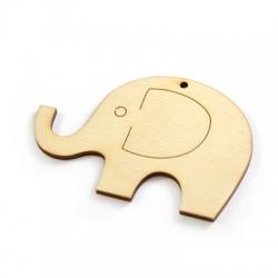 Wooden Pendant Elephant 83x45mm