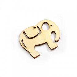 Wooden Pendant Elephant 55x45mm