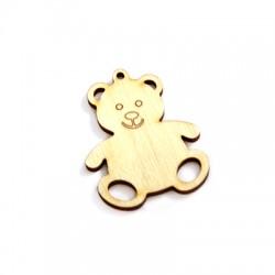 Wooden Pendant Teddy Bear 58x45mm