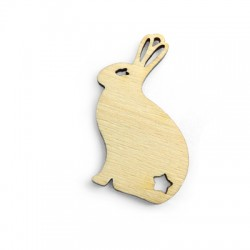 Wooden Pendant Rabbit 61x42mm