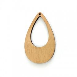 Wooden Pendant Drop 65x39mm