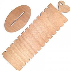 Présentoir pour bracelets en Bois avec cœur 300x90mm