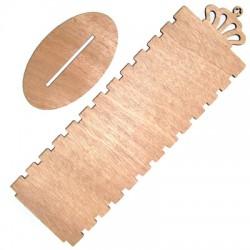 Présentoir pour bracelets en Bois avec couronne 300x90mm