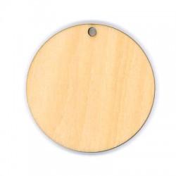 Ciondolo di Legno Rotondo 50mm