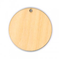 Wooden Round Pendant 50mm