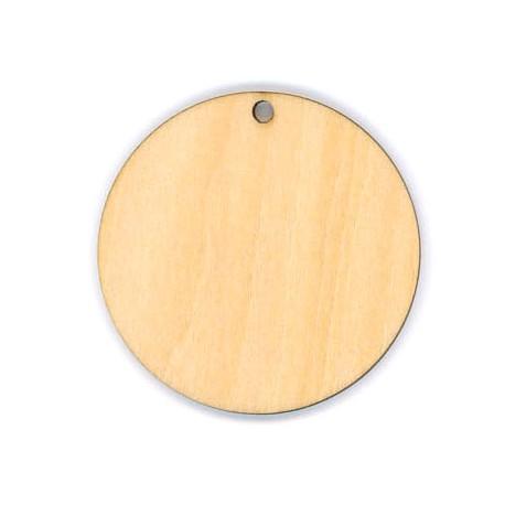Wooden Round Pendant 50mm