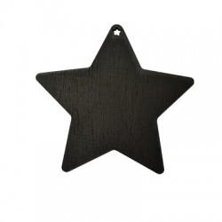 Wooden Lucky Pendant Blackboard Star 90x96mm