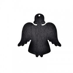 Wooden Lucky Pendant Blackboard Angel 90x89mm