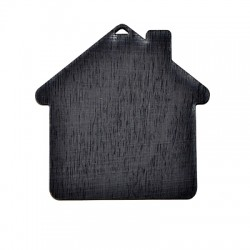 Wooden Lucky Pendant Blackboard House 90x90mm
