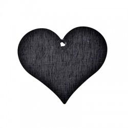 Wooden Lucky Pendant Blackboard Heart 83x95mm
