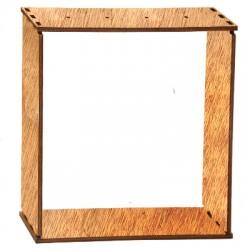 Ξύλινη Επιτραπέζια Κορνίζα 150x36mm (4τμχ/Σετ)