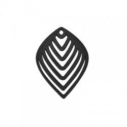 Wooden Pendant Leaf 42x57mm
