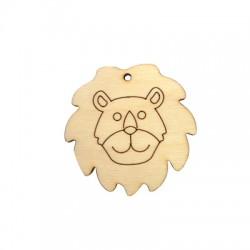 Wooden Pendant Lion 50mm