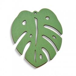 Wooden Pendant Leaf 61x72mm