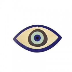 Wooden Lucky Pendant Eye 58x102mm