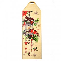 Wooden Bookmark Lucky 150x50mm