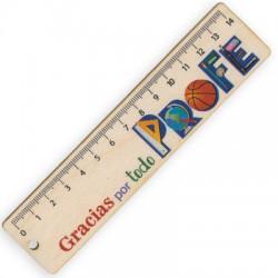 Wooden Ruler 'Gracias por todo Profe' 150x35mm