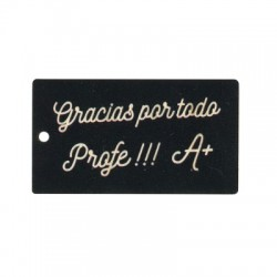 Wooden Pendant Blackboard 'Gracias por todo Profe' 39x70mm