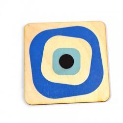 Ξύλινο Σουβέρ Τετράγωνο Μάτι 85mm