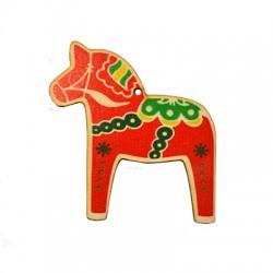 Wooden Lucky Pendant Christmas Horse 88x91mm