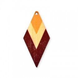 Wooden Painted Pendant Rhombus 62x29mm