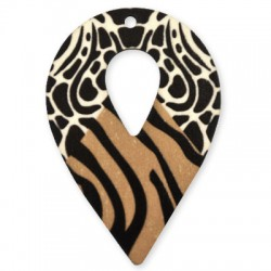 Wooden Painted Pendant 47x69mm