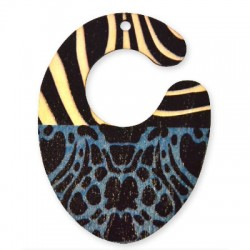 Wooden Painted Pendant 52x70mm