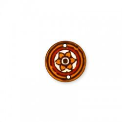 Ξύλινο Στοιχείο Στρογγυλό Λουλούδι 25mm