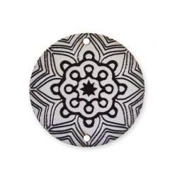 Wooden Painted Pendant 40mm