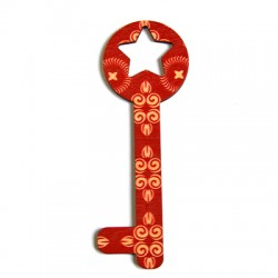 Wooden Painted Pendant Key 42x119mm