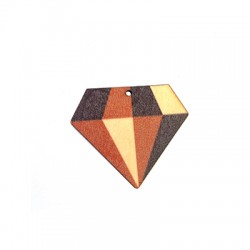 Wooden Pendant Diamond 46x40mm