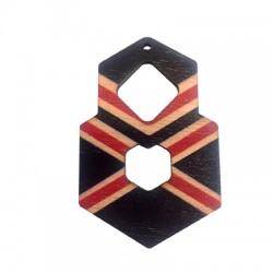 Wooden Pendant Irregular 39x59mm