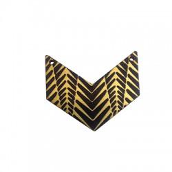 Ξύλινο Μοτίφ Γεωμετρικό 2 Τρύπες 43x37mm