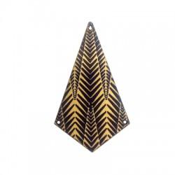 Ciondolo in Legno Geometrico Dipinto 43x74mm