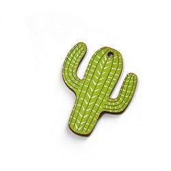 Ciondolo di Legno Cactus dipinto 32x40mm