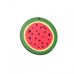 Wooden Pendant Painted Watermelon 50mm