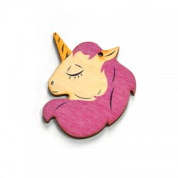 Wooden Pendant Unicorn 66x49mm