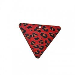 Ciondolo di Legno Triangolo dipinto 43mm