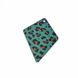 Ciondolo di Legno Rombo dipinto 39x50mm