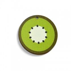 Ciondolo di Legno Kiwi dipinto 40mm