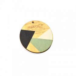 Ciondolo in Legno Rotondo dipinto 45mm
