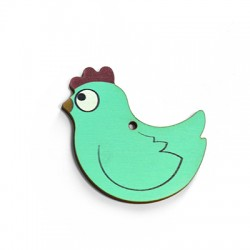 Wooden Pendant Chicken 52x50mm