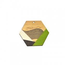 Ξύλινο Μοτίφ Εξάγωνο 43x37mm