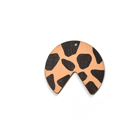 Ciondolo di Legno Geometrico dipinto 40x36mm