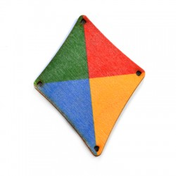 Wooden Pendant Kite 54x69mm