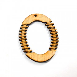 Wooden Pendant Oval 47x60mm