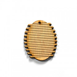 Wooden Pendant Oval 34x42mm