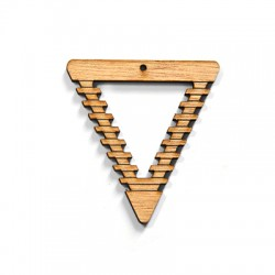 Wooden Pendant Triangle 55x60mm